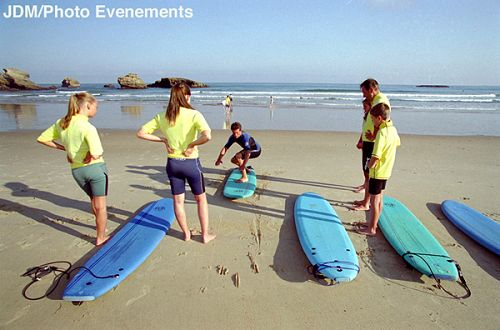 Surfing lessons at the Grande Plage in Biarritz